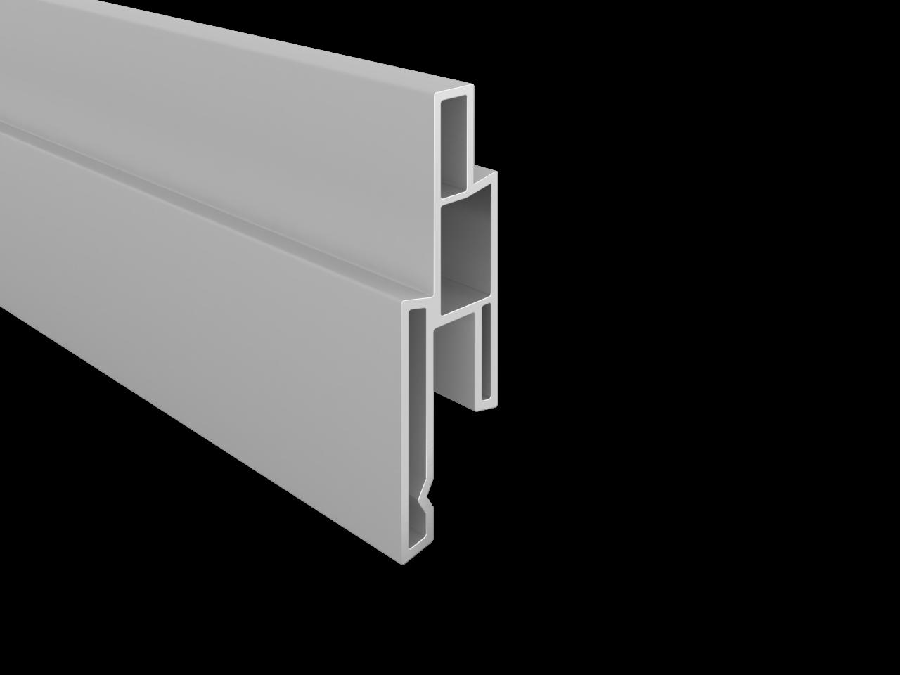 BALTIC-Serie KS-Dekorleiste 14 x 25 x 1760 mm, SILBERGRAU