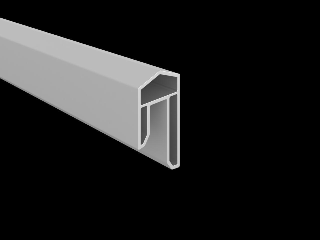 BALTIC-Serie KS-Abdeckleiste 17 x 31 x 1760 mm, SILBERGRAU